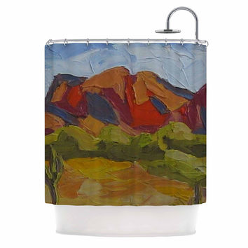 "Jeff Ferst ""Arizona"" Desert Mountain Shower Curtain"