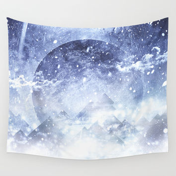 Even mountains get cold Wall Tapestry by HappyMelvin
