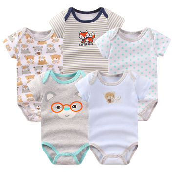 2016 Baby Boy Girl Clothes New Style 100%Cotton Cute Baby Rompers for Newborn Baby Clothing Set 3pcs/lot Infantal Jumpsuits