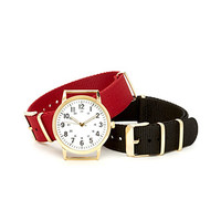FOREVER 21 Interchangeable Band Watch Black/Red One