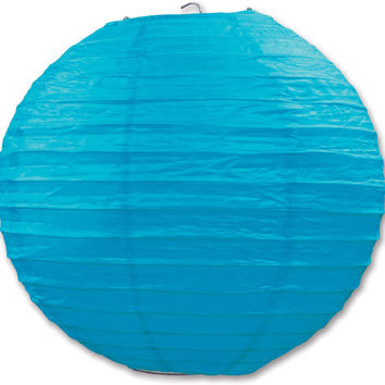 """general occasion turquoise paper lanterns - 9.5"""" Case of 6"""