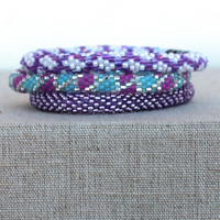 Lily and Laura: Bracelet Set, Lavender
