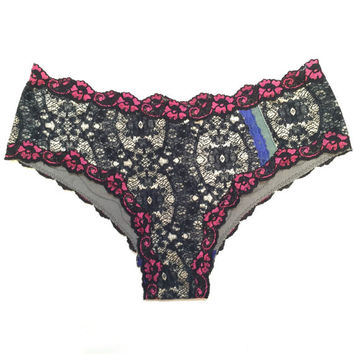 Cotton and Bamboo Panties // Lace Trim // Hot Pink // Royal Blue // Undies // Knickers