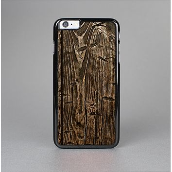 The Rough Textured Dark Wooden Planks Skin-Sert Case for the Apple iPhone 6 Plus