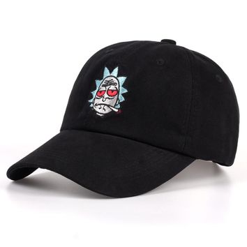 Rick and Morty Hats The New US Animation Rick Caps Dad Hat Adjustable High Quality Cotton Baseball Cap Black Beige Bone Snapback