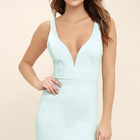 Perfect Pick Light Blue Bodycon Dress