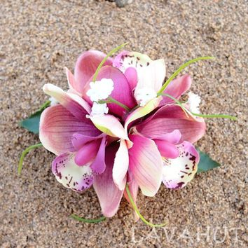 Orchid Wonder Blush Hawaiian Flower Hair Clip
