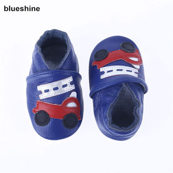 2017 NEW Genuine Leather Cartoon Pattern Soft Baby Shoes First Walkers Toddler Baby Moccasins Anti-slip Infant fringe Shoes