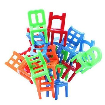 ICIK8NT new plastic balance toy stacking chairs for kids desk play game toys parent child interactive party game toys