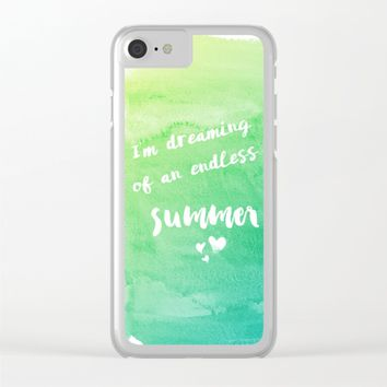Endless summer Clear iPhone Case by eDrawings38