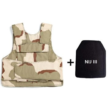 New Military Tactical Aramid Bullet Proof Vest NIJ AK 47 carrier  bulletproof board police swat protection Vest  Free Shipping