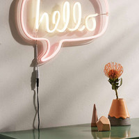 Hello Neon Sign | Urban Outfitters