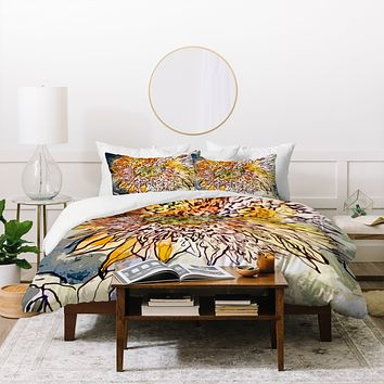 Ginette Fine Art Sunflower Prickly Face Duvet Cover