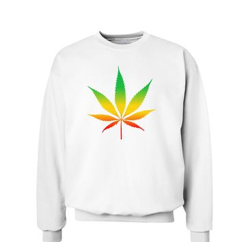 Marijuana Leaf  Rastafarian Colors Sweatshirt