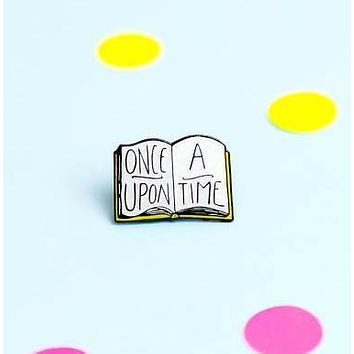 Once Upon A Time Book Enamel Pin