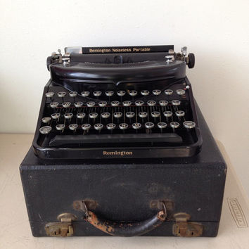 Remington Noiseless Portable Typewriter from 1936 Working Typewriter