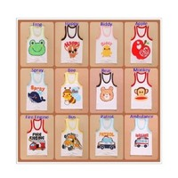 Infant Toddlers Baby 100% Cotton 5 Pack Cartoon Japan Vest Tank Sleeveless Top