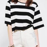 Urban Outfitters - Glamorous Stripe Zip-Back Cropped Top