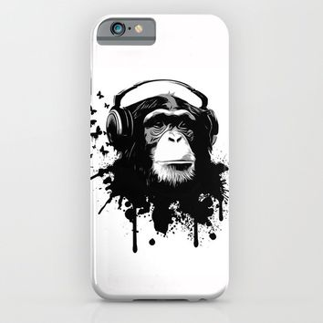 Monkey Business - White iPhone & iPod Case by Nicklas Gustafsson