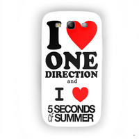 One Direction And 5 seconds of summer Boy Band For Samsung Galaxy S3 Case
