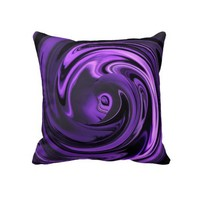 Abstract Face of Innocence in Purple Throw Pillow from Zazzle.com