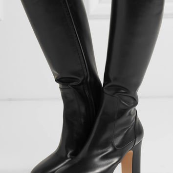Gucci - Leather platform knee boots