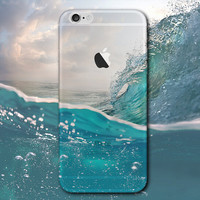 Sea Wave iPhone 5 5S iPhone 6 6S Plus creative case Gift-124