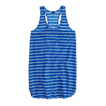 J.Crew Womens Gauze Tank Dress In Stripe