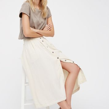 Free People Sunday Stroll Midi Skirt