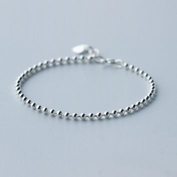 Fashion small ball 925 Sterling Silver bracelet , a perfect gift