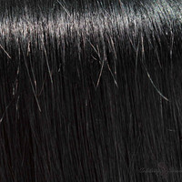 "24"" Clip In Remy Hair Extensions: Black Stallion No. 1"