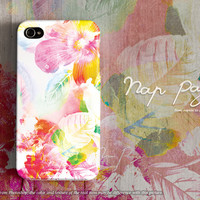 apple iphone case : Abstract colorful flower