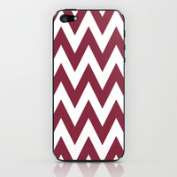 Chevron TS Maroon and White iPhone & iPod Skin by Team Spirit  Email me with your favorite color combos!!!!!