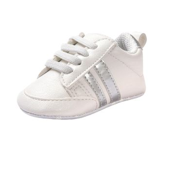 3Colors PU leather Baby sports shoes girls boys First Walkers Soft Bottom 2017 Fashion Newborn Shoes Non - Slip Bebe