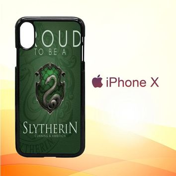 Proud To Be Slytherin F0574 iPhone X Case