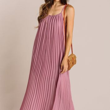 Trina Pleated Maxi Dress