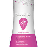 Summers Eve Simply Sensitive Cleansing Wash For Sensitive Skin - 15 Oz