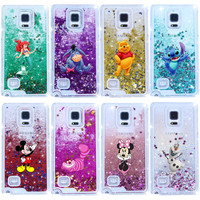 Alice in Wonderland Sparkling Liquid Quicksand  Case Cover For Samsung Galaxy Note 4
