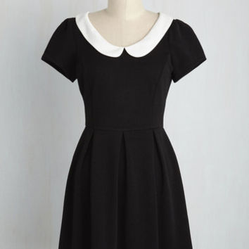 Record Time Dress in Black | Mod Retro Vintage Dresses | ModCloth.com