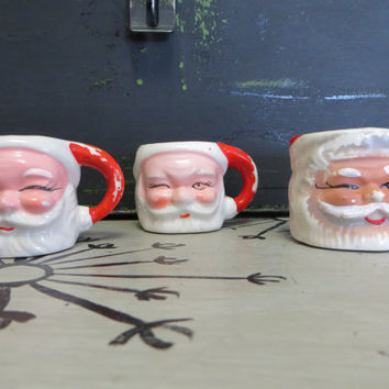 Ceramic Santa Claus Vintage Santa Claus Santa Mug Miniature Mug Holiday Decor Napco Santa Cup Vintage Santa Claus Christmas Decor