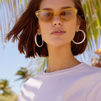 Essential Crystal Cat-Eye Sunglasses   Urban Outfitters