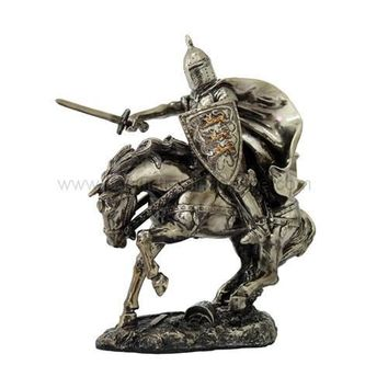 Medieval Knight Riding Into Battle on Destrier War Horse