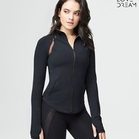 LLD MESH INSET FULL-ZIP TOP