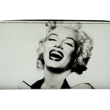 Marilyn Monroe Retro Classic ID Coin Bill Holder White Wallet Purse Bag
