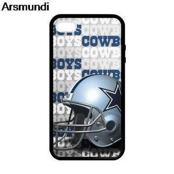 Arsmundi Dallas cowboys coverage Phone Cases for iPhone 4S 5C 5S 6S 7 8 Plus  XR XS Max for X S9 6 Case Soft TPU Rubber Silicone