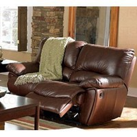 Recliner Loveseat Sofa in Brown Leather Match