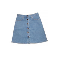 front button jean skirt ~