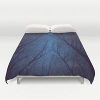 I Have Loved the Stars to Fondly (Night Trees Silhouette Abstract 2) Duvet Cover by soaring anchor designs ⚓   Society6
