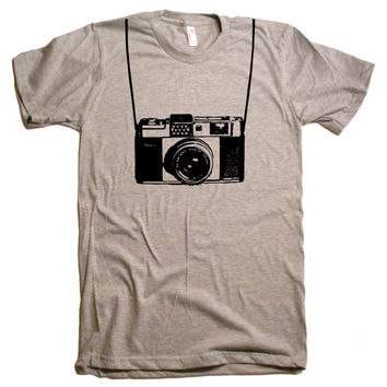 Mens Vintage Camera Funny T Shirt - American Apparel Tshirt - XS S M L XL and XXL (19 Color Options)