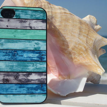 Beach Wood Tropical Print Cell Phone Case for Iphone 5/5S and Iphone 4/4S, Galaxy 3, Aqua Phone Case and Phone Covers.